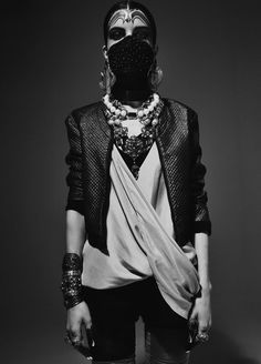 meikainooni: saraswati, dark, inspir, mask, fashion editorials, beauty, bohemian, black, style fashion
