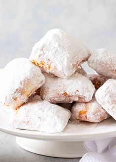 Enjoy pillowy, sugary New Orleans-style Beignets right at home. Start the dough the night before, and let it rise slowly overnight for a sweet breakfast, or do it all in the morning. It's a trip to Cafe du Monde without the ticket price! New Orleans Beignets Recipe, Beignet Recipe, Homemade Birthday Cakes, Simply Recipes, Dessert Recipes, Desserts, Donut Recipes, Salad Recipes, Sweet Breakfast