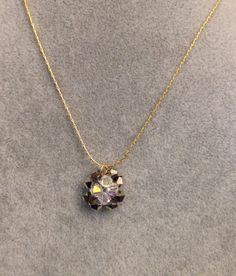 Holiday Jewelry Beaded Swarovski Crystal Flower by meldiddesigns