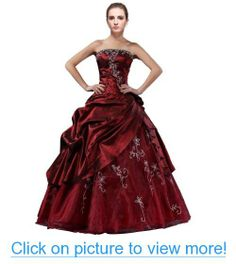DLFashion Strapless A-line Embroidered Taffeta Quinceanera Dress