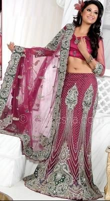 Exquisite Deep Pink Lehenga Choli