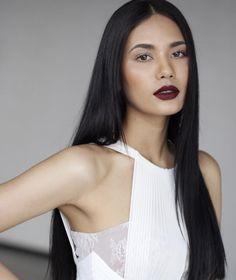 Namtan Chaling Chalita Suansane and her long sleek black hair น้ำตาล ชลิตา ส่วนเสน่ห์