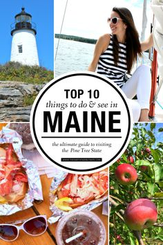 From national parks to all the best places to eat, this is the ultimate Maine travel guide! This article is a must-read for anyone looking for things to do or places to see in Maine in any season Maine New England, New England Travel, Best Places To Eat, Best Places To Travel, Solo Travel, Travel Usa, Travel Tips, Travel Guides, Tahiti