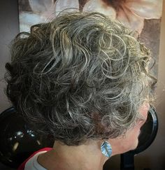 Image result for going gray hairstyles short wavy