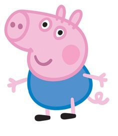 This George Pig mini cardboard cutout is a great decoration for a Peppa Pig party! Pair with our Peppa Pig cutout and pretend to be the whole Pig family! Kids love taking pictures with these larger-then-life cutouts made from durable cardboard complete wi Tarta George Pig, Cumple George Pig, George Pig Cake, Peppa E George, George Pig Party, Fiestas Peppa Pig, Cumple Peppa Pig, Peppa Pig Familie, Familia Peppa Pig