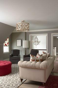 Glitzy-Glam meets Farmhouse-Chic - contemporary - family room - minneapolis - by Martha O'Hara Interiors