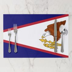 Tearaway placemat with Flag of American Samoa USA - kitchen gifts diy ideas decor special unique individual customized