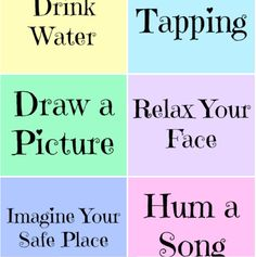 Relaxation Prompt Printables ~ Free and handy. Includes 2 sheets of prompts and blank cards on which kids can add strategies that work for them. Counseling Activities, School Counseling, Therapy Activities, Anxiety Activities, Wellness Activities, Anxiety Help, Stress And Anxiety, Anxiety Relief, Coping Skills