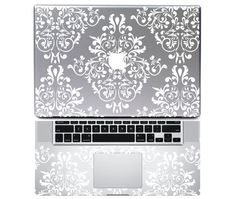 """Total skinclassic border. Macbook decal vinyl. Avaliable for Macbook ( pro/air) 13"""" 15"""" 17"""" and ipad. $14.90, via Etsy."""