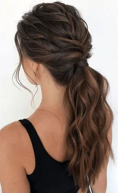 Cute Ponytail Hairstyles, Cute Ponytails, Bride Hairstyles, Easy Hairstyles, Gorgeous Hairstyles, Hairstyle Ideas, Bangs Hairstyle, Easy Wedding Hairstyles, Style Hairstyle