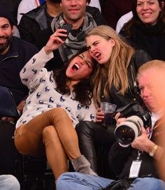 Cara Delevingne & Michelle Rodriguez Are High As F*ck! [PHOTOS]