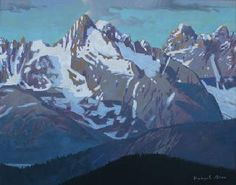 "Smokey Tops by Canadian Artist Robert Genn. Acrylic on Canvas 24"" x 30""…"