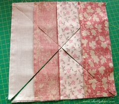 Shabby Home: What a beautiful tutorial! What a nice tutorial on a great way to use a jelly roll.