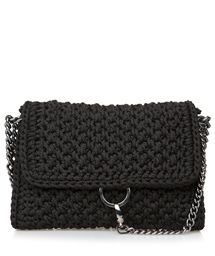 f86ed4f0b79 ONE & ONLY Black Obsession Link Crochet Bag < ΤΣΑΝΤΕΣ ΩΜΟΥ Crochet Purses,  Crochet Clutch