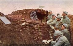 Battle of Verdun . 21st of February – 18th of December 1916. French soldiers firing grenades in the German trenches. English version of postcard with offical photograph of 'La section photographique de l'Armée Française'. Published in London. Caption: 'The French are adepts [sic] with grenades and know how to cast these bombs with telling effect on German trenches. They employ all kinds of wonderful little guns, as here shewn'. Pin by Paolo Marzioli