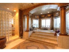 Now that's a grand entrance to a bathtub!