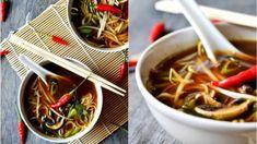 Fantastická polévka v asijském stylu, kterou máte hotovou za několik málo minut (pokud máte předpřipravený vývar). Lime Recipes, Asian Recipes, Ethnic Recipes, Pho, Japchae, Ramen, Food And Drink, Soup, Vietnam