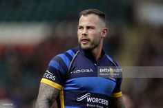 Francois Hougaard of Worcester Warriors looks on during the Aviva Premiership game between Leicester Tigers and Worcester Warriors at Welford Road on April in Leicester, England. Leicester Tigers, Motorcycle Jacket, That Look, Mens Tops, Pictures, Leicester England, Game, Fashion, Photos