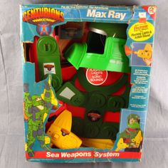 Centurions Max Ray Sea Weapons System 1986 Adventure Suit RARE Toy Original Box #HG