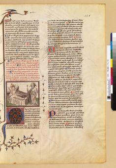 Français 2604, fol. 128, Songe de Charlemagne