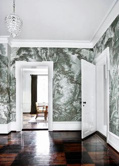 Eden European Panoramic design Hand painted wallpaper with Grisaille color… Hand Painted Wallpaper, Hand Painted Walls, Painting Wallpaper, Handmade Wallpaper, Scenic Wallpaper, Wallpaper Panels, Wall Wallpaper, Gracie Wallpaper, De Gournay Wallpaper