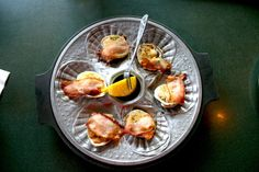 Clams Casino served piping hot!