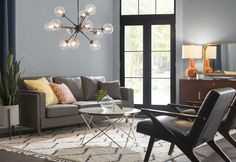 Get inspired with living room ideas and photos for your home refresh or remodel. Wayfair offers thousands of design ideas for every room in every style. Country Contemporary Decor, Modern Contemporary Living Room, Modern Bedroom Design, Living Room Modern, Home Living Room, Living Room Designs, Living Room Decor, Chandelier In Living Room, Sputnik Chandelier