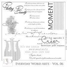 Everyday Word Arts Vol 06 by D's Design  #CUdigitals cudigitals.com cu commercial digital scrap #digiscrap scrapbook graphics