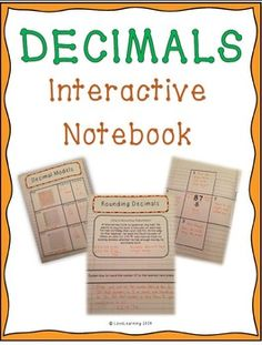 DECIMALS: Interactive Notebook {Covers all 5th Grade NBT Standards}  1. Understanding Decimals Using Models 2. Relating Decimals and Fractions 3. Drawing Decimal Models and Interpreting Models 4. Writing Decimals in Standard, Expanded, and Word Form 5. Comparing and Ordering Decimals (with the use of a number line and the lining up the decimal point) 6. Rounding Decimals 7. Adding and Subtracting Decimals 8. Multiplying Decimals 9. Dividing Decimals 10. Multiplying and Dividing by Powers of…