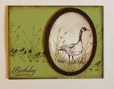 """By Cynthia Millan. Uses Stampin' Up """"Wetlands"""" stamp set."""