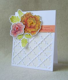 May Color Play - Mother's Day Card by Lizzie Jones for Papertrey Ink (May 2013)