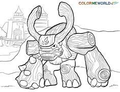 coloring pages of sky scene | skylanders ninjini coloring page : ninjini free color page