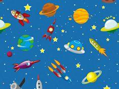 Space Rocket Solar System Wallpaper from R443.00 per sq m http://www.petrichorstudio.com/products/wallpaper/HMW009/
