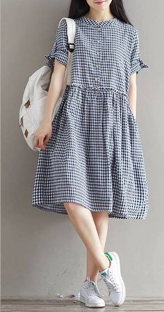 Fashion dresses - Image may contain one or more people, people standing and shoes Frock Fashion, Hijab Fashion, Korean Fashion, Fashion Dresses, Simple Dresses, Cute Dresses, Casual Dresses, Summer Dresses, Comfy Dresses
