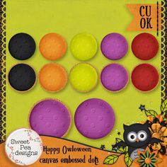 Happy Owl-o-Ween Canvas Embossed Styles - $1.00 : Sweet Pea Designs, Making Memories Last