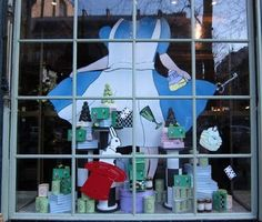 I CAN MAKE THE CUT OUT! An Alice in Wonderland window display!