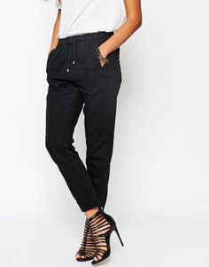 ASOS Washed Casual Trousers with Tie Waist - http://asos.do/OH5KyN