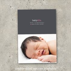 The classiest birth announcement ever. LOVE