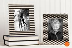 Display your favorite memories with these stylish black and white frames. Available in four different styles for 71% off at pickyourplum.com