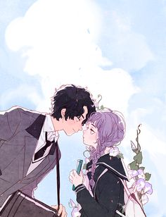 Anime couple art shared by ❍ℓїʋเα ♡ on we heart it