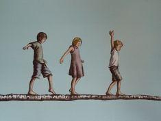 Galleri - Tom Erik Andersen - Never leave your childhood behind Never Leave You, Toms, Childhood, Leaves, Movies, Movie Posters, Painting, Art, Kunst