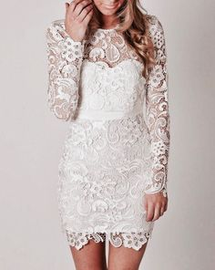 Short Lace Wedding Dress Boho Fl Crochet Reception