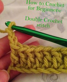 For the love of all things random: Crocheting for Beginners Part 2: How to Double Crochet