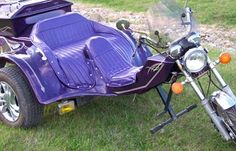 Automatic 1985 VW Three Wheel Trike Motorcycle w Custom Plum Purple paint and pinstripes: The 1985 VW Three Wheel Trike Motorcycle for Sale is an AUTOMATIC!  This trike has a fully automatic transmission, a 1600cc motor, new tires and wheels,