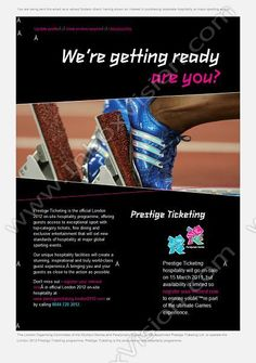 Company:  Prestige Ticketing Ltd Subject:  Official on-site hospitality for the London 2012 Olympic and Paralympic Games               INBOXVISION, a global email gallery/database of 1.5 million B2C and B2B promotional email/newsletter templates, provides email design ideas and email marketing intelligence.  http://www.inboxvision.com/blog  #EmailMarketing #DigitalMarketing #EmailDesign #EmailTemplate #InboxVision #Emailideas #NewsletterIdeas