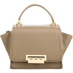 Pre-owned ZAC Zac Posen Leather Eartha Satchel (11.365 RUB) ❤ liked on Polyvore featuring bags, handbags, neutrals, brown satchel purse, leather purses, genuine leather handbags, leather satchel handbags and leather satchel purse
