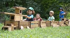 Ideas of how teachers and parents can encourage children to use their imagination to explore outdoors.
