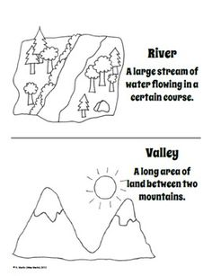 FREE Landforms Dictionary (or Coloring Book)