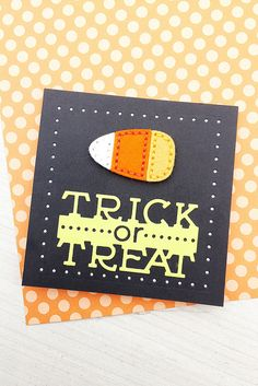 Trick Or Treat Mini Card by Erin Lincoln for Papertrey Ink (August 2016)