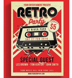 Retro Flyer Design | Retro Inspired Flyer | Pinterest
